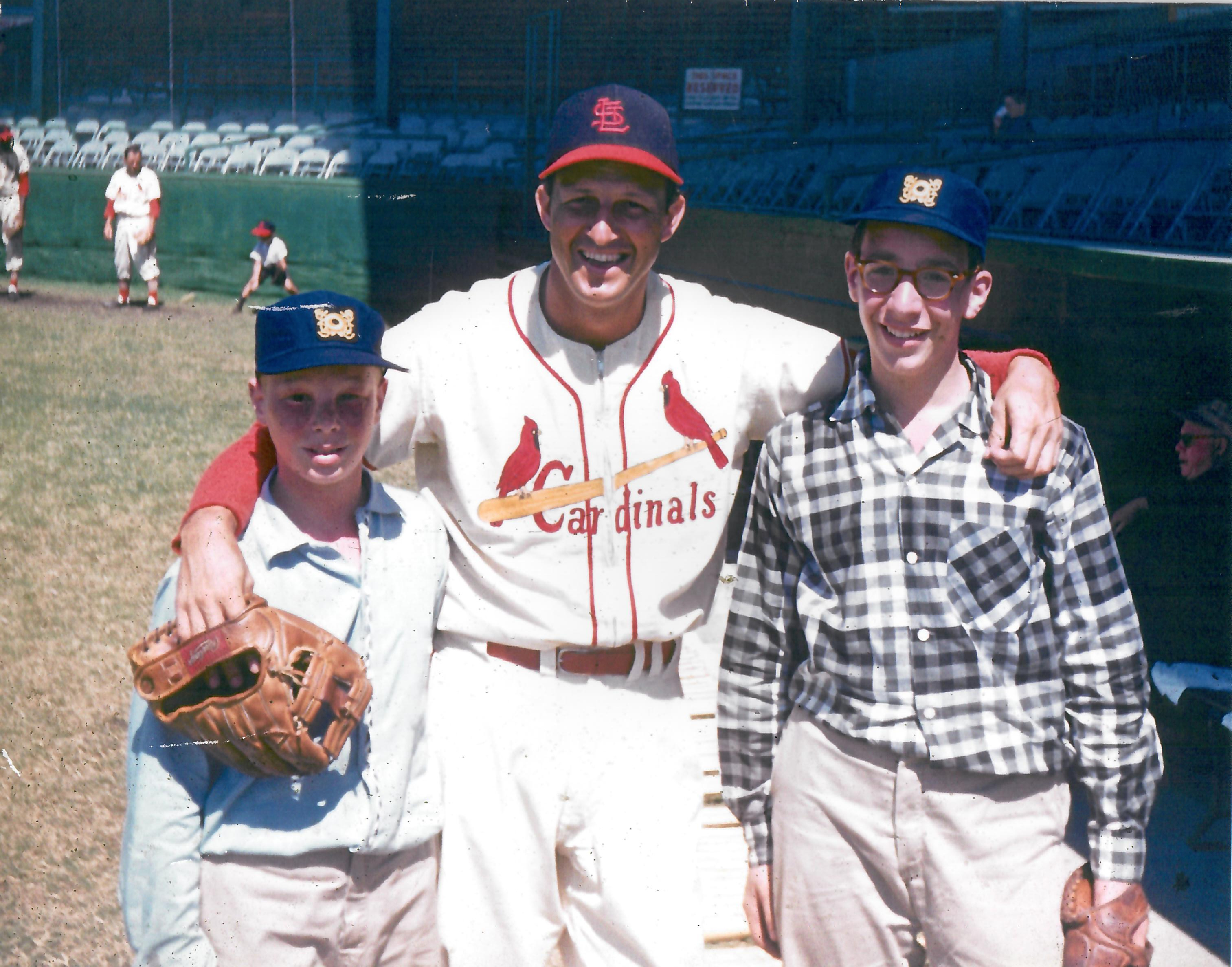 Ted and Bob with Stan Musial